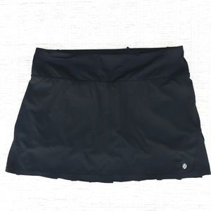 Lululemon black pleated mini skirt tennis skort